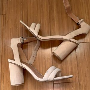 Madewell ankle strap high heel sandals